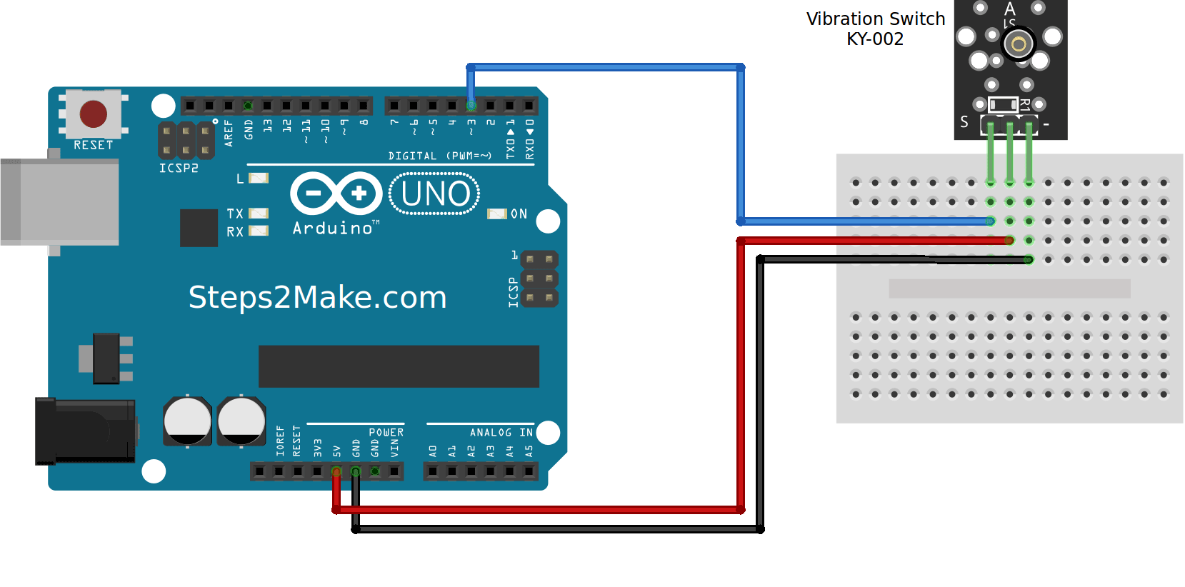 Arduino KY-003 Hall magnetic sensor module - Steps2Make