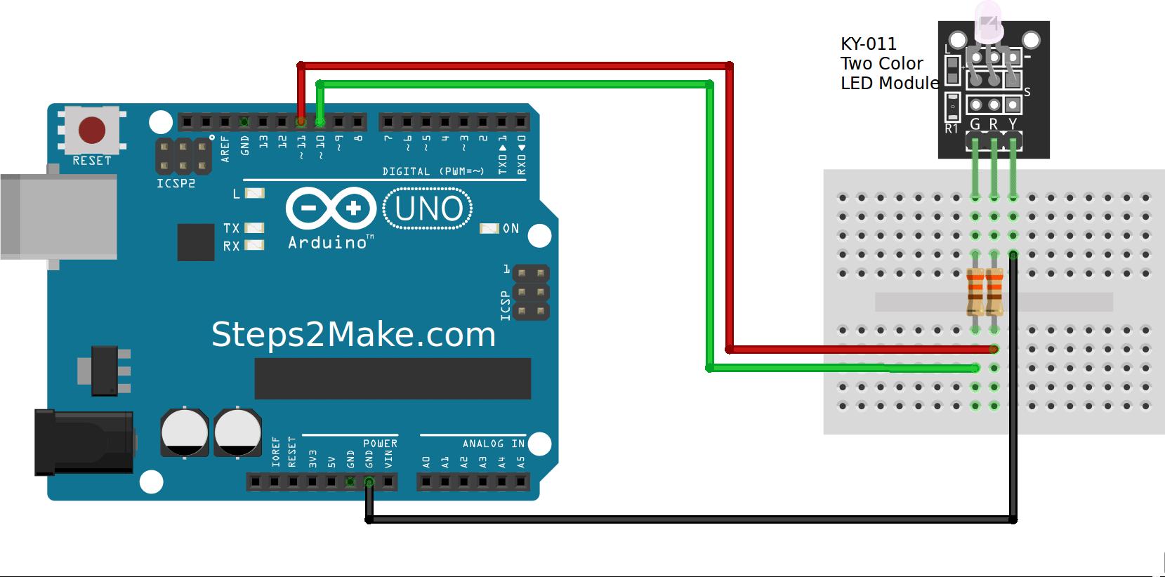 Arduino color led module ky steps make