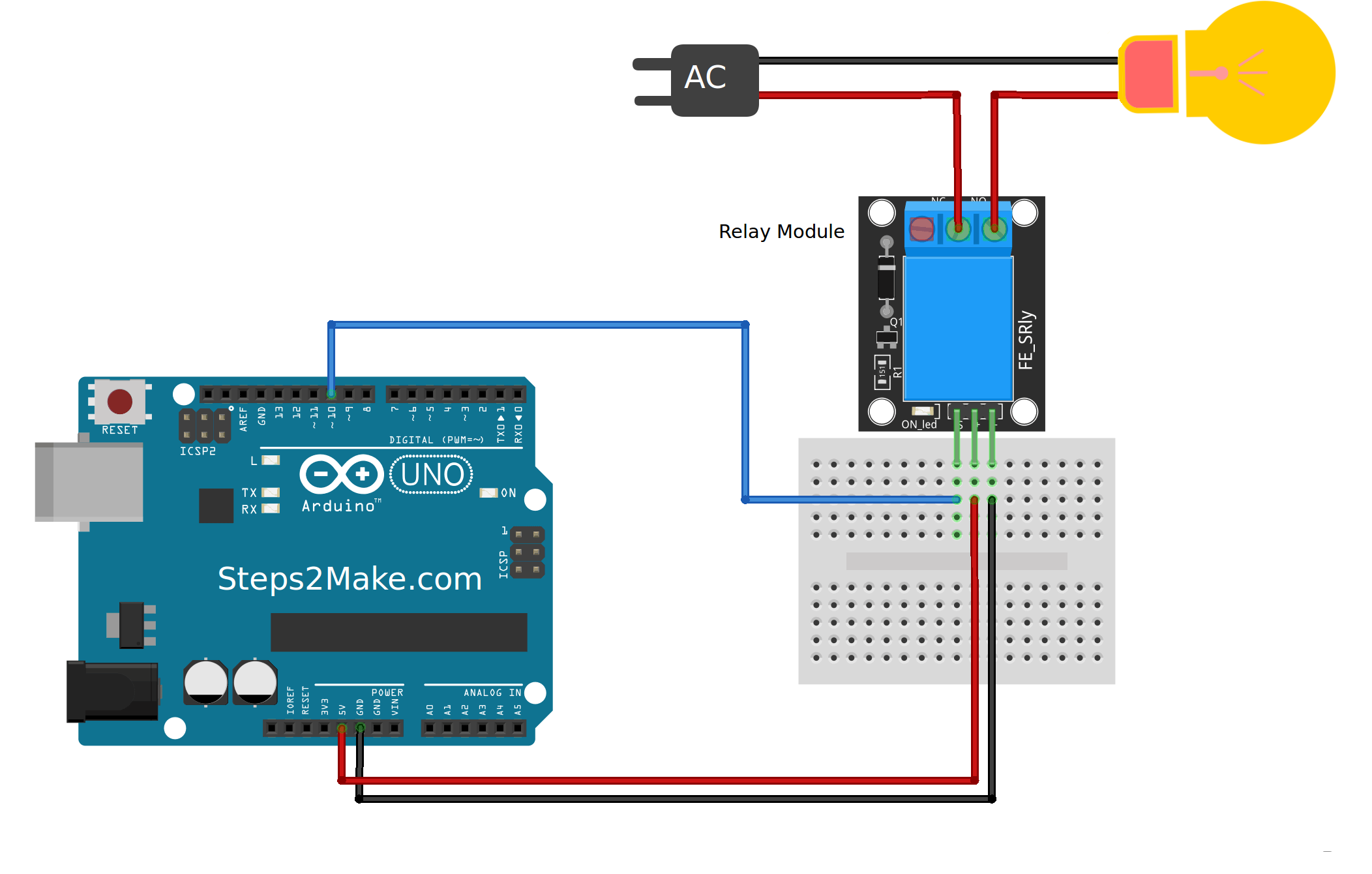 Arduino v relay module ky steps make